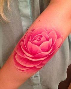 no outline tattoo