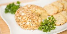 Vegan Cheese Ball recipe 1⁄4 cup dry roasted almonds 11⁄2cups raw cashews, soaked for at least 2 hours 3⁄4 tsp kosher or sea salt 1 tbsp nutritional yeast 11⁄2 tbsp fresh lemon juice 1⁄2 tsp garlic powder 1⁄2 tsp onion powder 1 tsp fresh parsley Vegan Cheese Ball Recipe, Vegan Cheese Sauce, Cheese Ball Recipes, Dairy Free Recipes, Vegan Recipes, Cooking Recipes, Vegan Meals, Raw Cheese, Vegan Apps