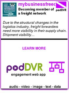 #UNCAT #PODCAST  mybusinessfreedom.com    Becoming member of a freight network enhances your brand recognition    READ:  https://podDVR.COM/?c=5868e7d4-d929-25f8-59c3-67c3dd470c50