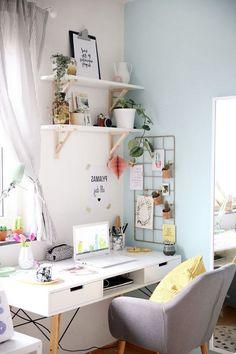 70 Highly Favorite Home Workspace Design Inspirations Workspace Design, Home Office Design, Home Office Decor, Home Decor, Art Decor, Office Ideas, Decor Ideas, Bedroom Workspace, Office Art