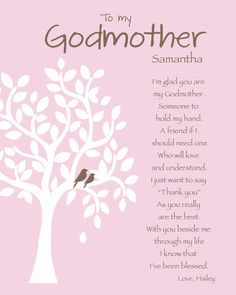 GODMOTHER Gift Personalized Godmother Print by KreationsbyMarilyn