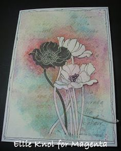 Paper - Stamps - Color: LOVE this flower stamp!