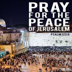 Pray for the peace of #Jerusalem!