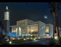 Visual of northern main elevation/night shot | Archnet