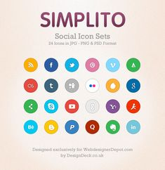 Imagery Investigation: Simplito Social Icon Set. Has RSS, Facebook, Twitter, Dribble, and LinkedIn, but no Google+.