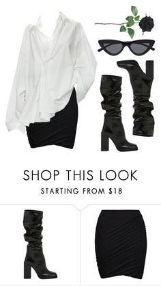 """Black Rose"" by baludna ❤ liked on Polyvore featuring Yves Saint Laurent and ONLY"