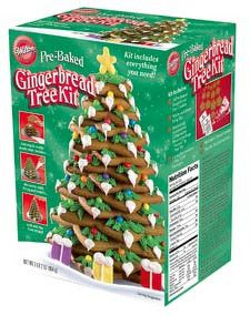 Pre-Baked Gingerbread Tree Kit by Wilton Ready to assemble