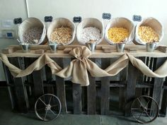 Wedding popcorn bar