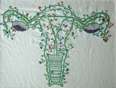 Erin Rose of Green Bay, WI created this delicate and growing exquisite uterus.  It is exquisite!