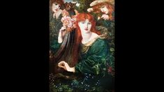 The title of Dante Gabriel Rossetti's 'La Ghirlandata' is translated by the Pre-Raphaelite artist's brother, William Michael, as 'The Garlanded Lady', or 'The Lady of the Wreath'.