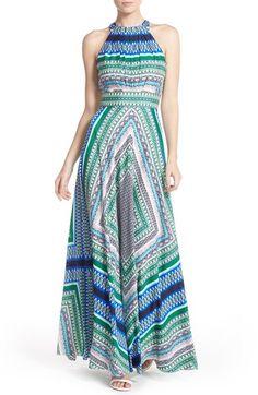 Eliza J Scarf Print Chiffon Maxi Dress (Regular & Petite) available at #Nordstrom