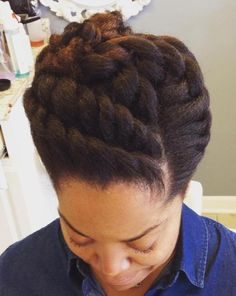 Twisted Updo For Natural Hair