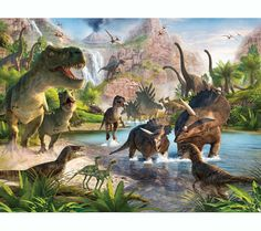 Mural de dinosaurios - Todo Dinosaurios - La tienda del dinosaurio