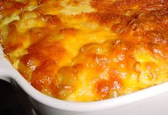 This recipe was found in a Cooking with Paula Deen magazine. In sounded so simular to my recipe #107514 that I thought I would whip it up to compare. This macaroni pie is just as good if not a wee bit better. It certainly needs to be compared side by side to be sure....but then, what would I do with all that pie? This recipe was titled in the magazine Libbas Macaroni And Cheese