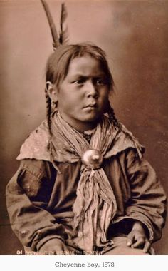 Cheyenne boy - 1878