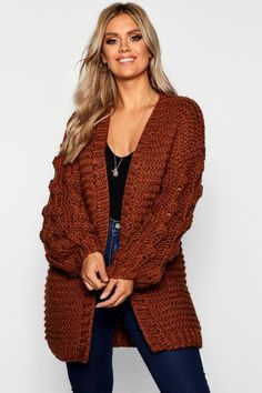 Cárdigan grueso extragrande tejido a mano extra grande Informations About Plus Oversized Hand Knitted Chunky Cardigan Chunky Knit Cardigan, Oversized Cardigan, Chunky Sweaters, Fall Outfits, Cute Outfits, Fashion Outfits, Pijamas Women, Knitted Coat, Knitted Baby