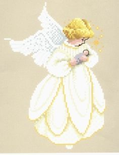 Free Christmas Cross-stitch patterns by Told in a Garden.  Made this one for my baby's nursery.