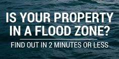 Is Your Property In A Flood Zone? Find Out In 2 Minutes Or Less!  #ggrf #ggve (links to official FEMA flood maps online)