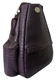 Ostrich Eggplant Small Sling Tennis Bag, also available in the Convertible style. Found at Life Is Tennis!