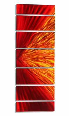 0ef083274c6 Red Hot Stuff II XL - Extra Large Prismatic Painted Modern Metal Wall Decor  by Jon Allen - 96