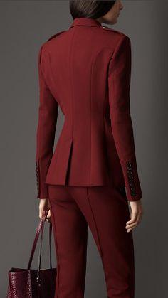 Chaqueta de traje con detalles en seda | Burberry