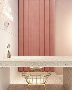 테라조 타일 /도끼다시 타일 : 네이버 블로그 #LuxuryWomen'sGrooming Design Retro, Spa Design, Vintage Design, Nail Salon Design, Nail Store, Interior Trim, Luxury Interior, Interior Paint, Boutique Decor