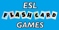 ESL Flashcard Games - Motivate your students to speak English with these entertaining flashcard games. You can use these flashcard games to teach vocabulary on a variety of topics, such as weather, food, animals, etc. These games also help students to associate words with pictures, communicate in English, and ask and answer questions.