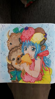 Pop manga coloring book from Camilla d'errico Colored by Carin Flipphi Vink 12-2-17