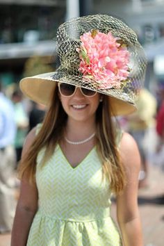 Yellow and lace was a primary trend for spectators at the 2015 Kentucky Derby.