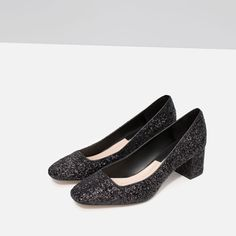 Image 5 of MID HEEL GLITTER SHOES from Zara