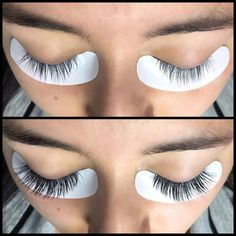 Before + After of classic lash extensions