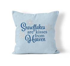 Throw Pillow Cover, Blue Christmas, by Kalilaine