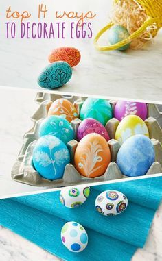 Scrambling for Easter egg decorating ideas? You've come to the right place! Whether you're looking for a fail-proof method or you're up for a challenge, Hallmark's round-up of 14 favorite ideas has you covered.