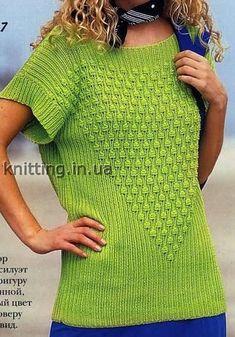 Пуловер с V-образным узором