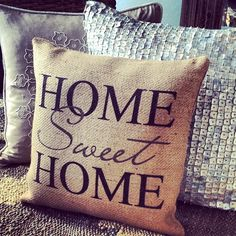 There's no place like home… home sweet home throw pillow.  pinned by wickerparadise.com