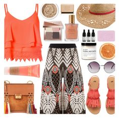 """Orange"" by soyance ❤ liked on Polyvore featuring Temperley London, Glamorous, Chloé, Monki, Quiksilver, Fig+Yarrow, Odacité, Aromatherapy Associates, Bobbi Brown Cosmetics and Estée Lauder"