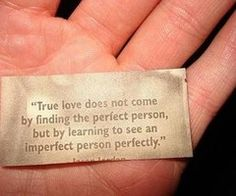 """And perfection means (according to Kathleen Norris), """"...becoming mature enough to give ourselves to others."""""""