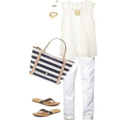 """""""OOTD whites"""" by maomi on Polyvore"""