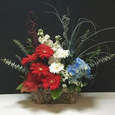 Fourth of July Floral Arrangement for Battle of the Blooms at Matlack Florist, Colleen's Design  #RedWhiteandBlue