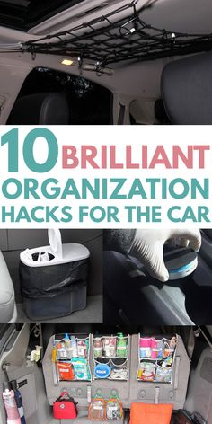 CAR ORGANIZATION is easy with these creative DIY ideas. Find tricks and hacks such as a secret compartment in the front seat cup holder, compartmentalized console dollar store trash can, ultimate trunk organization for all … Organisation Hacks, Car Organization Kids, Organizing Hacks, Trunk Organization, Car Cleaning Hacks, Car Hacks, Car Trunk Organizer, Road Trip Organization, Car Organizers