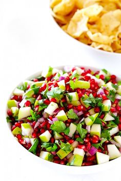 Mix up your boring, go-to Cinco de Mayo recipe with this Pomegranate Pear Salsa one.