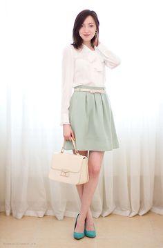 Pastel spring :) (by SASYA Yu) http://lookbook.nu/look/3173757-pastel-spring