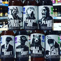 7 new beers from @fiercebeer now in stock - just in time for @craftbeerhour  Cafe Racer - Coffee & Vanilla Porter  Ginja Ninja - Ginger Lemongrass & Habanero Pale Ale  Night Shift - Black IPA  Day Shift - Pale Ale  Fuego Feroz - Habanero & Lime Pale Ale  Peanut Riot - Peanut Porter  Eskimo Joe - Coffee Pale Ale