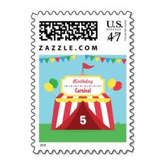 Colourful Carnival Themed Kids Birthday Party