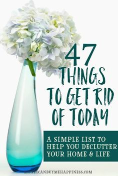 This simple list will have you decluttering in no time. Clear the junk from your life and find space for the things that make you happy.