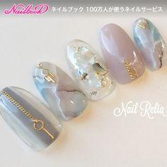 25 Marble Nail Design with Water amp; Nail Polish 2 - Marble Nails for You - Marble Nail Designs, Fall Nail Art Designs, Marble Nail Art, Wedding Nail Colors, Wedding Nails Design, Korean Nail Art, Korean Nails, Water Nails, Pink Nail Art