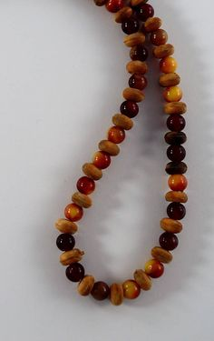 Black bead and brown bead mixture Eyeglass Chain Eyeglass