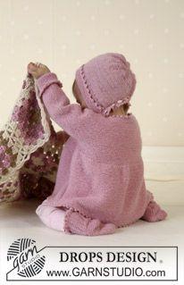 DROPS Baby 14-7 - Jacket, socks, bonnet, soft toy and blanket in Alpaca - Free pattern by DROPS Design