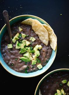 The best black bean soup recipe, perfect for busy weeknights! cookieandkate.com