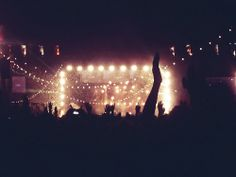 Mumford and Sons performance #concert #crowd #lights #music